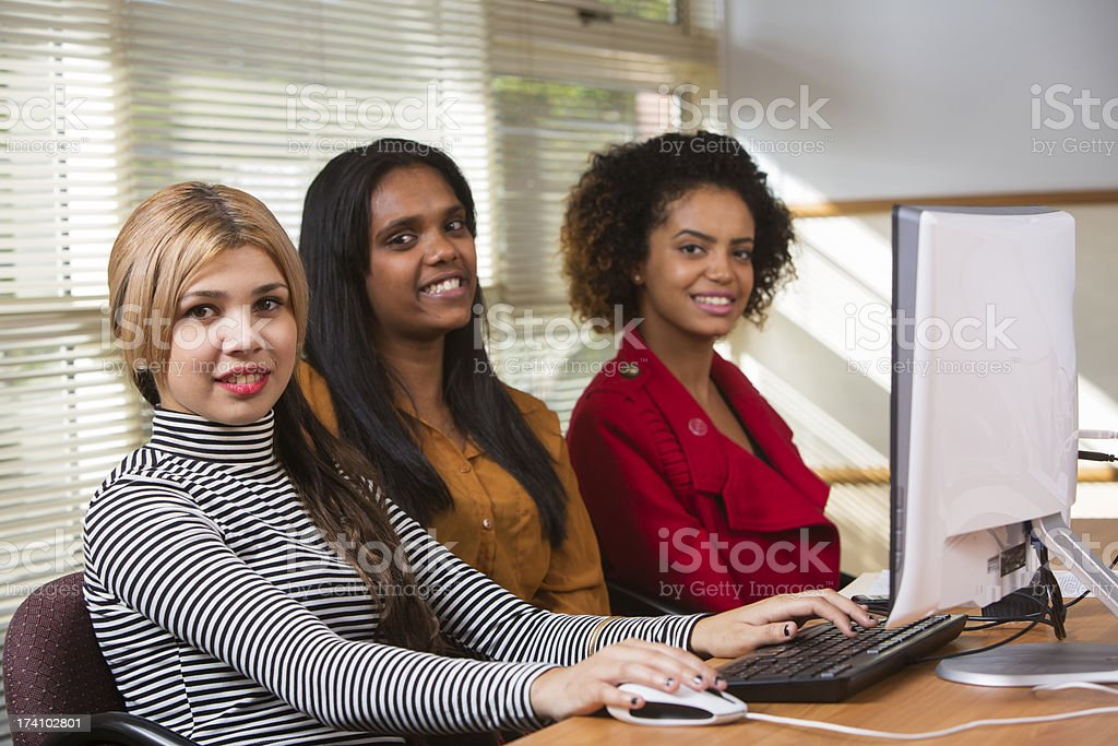 Aboriginal Women at Work stock photo
