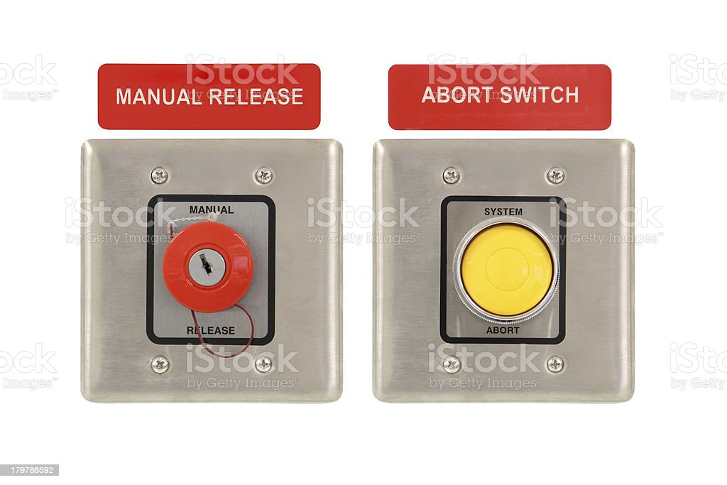 Abort and Release System stock photo