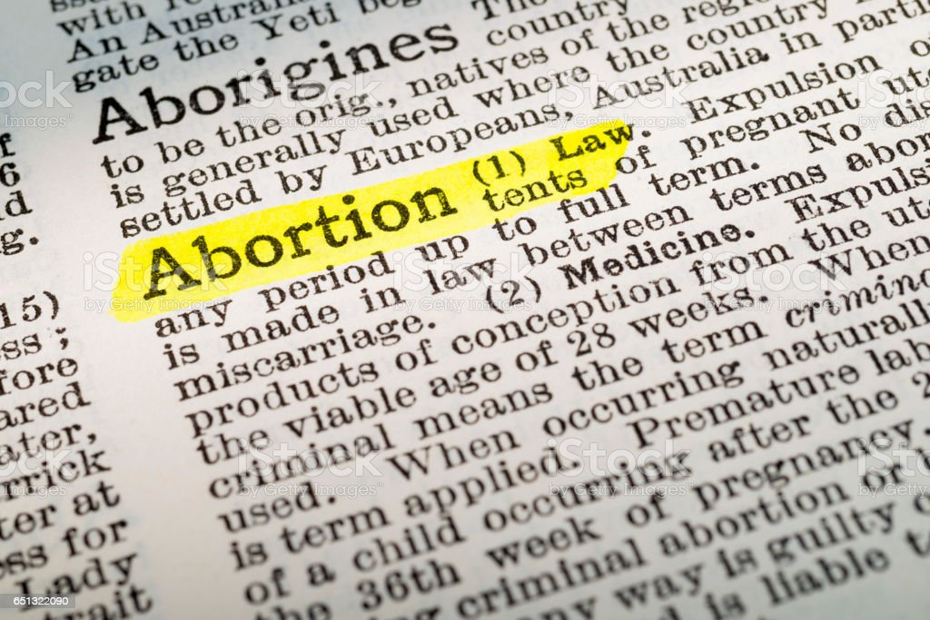 Abortion - dictionary definition highlighted – zdjęcie