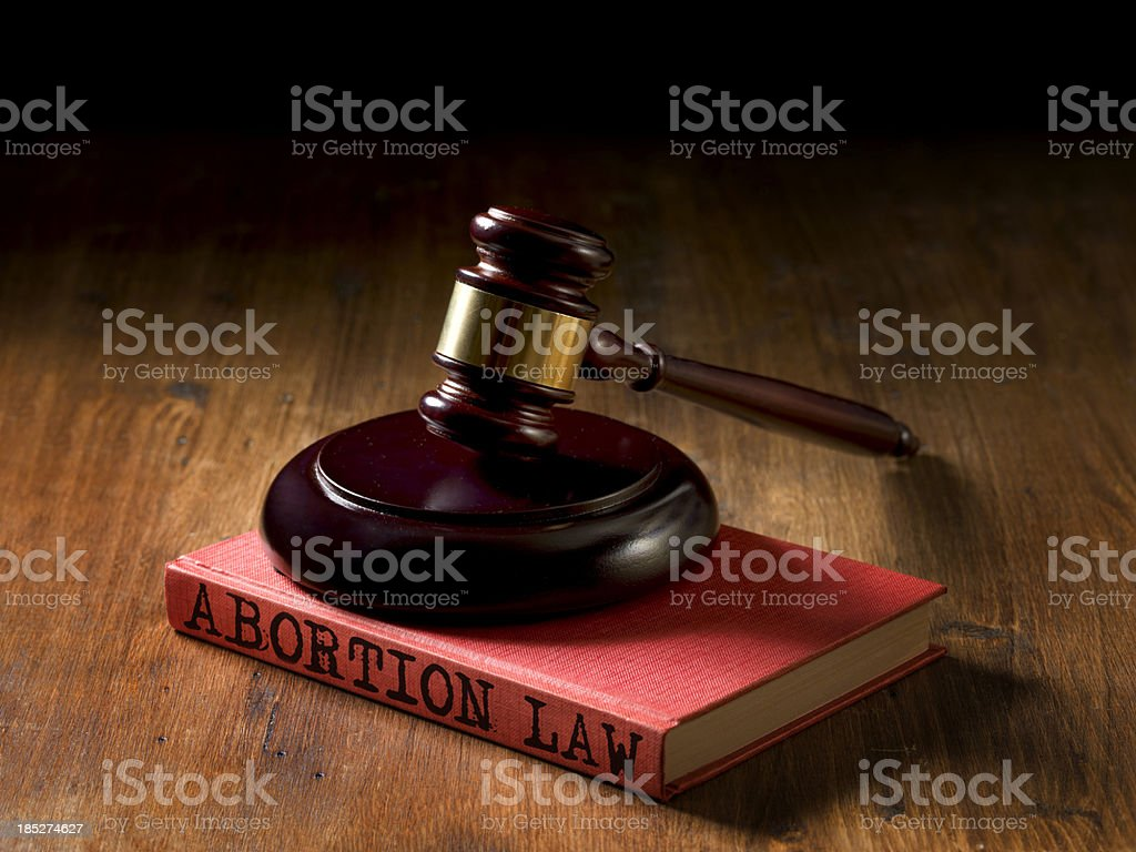 Abortion law stock photo