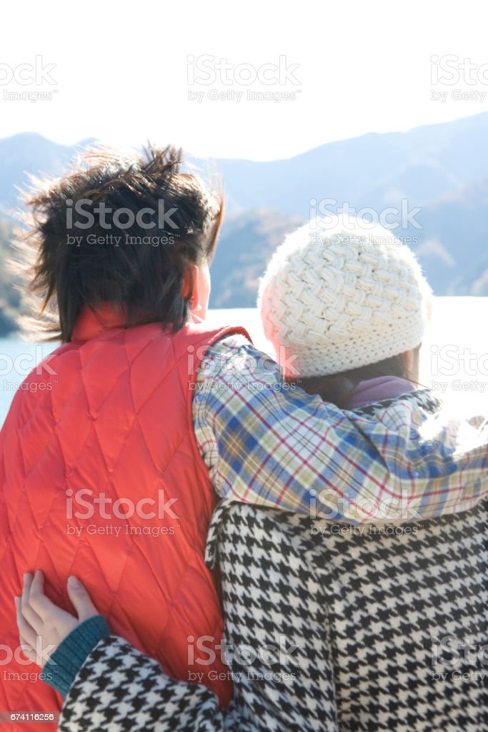 About a couple views of Lake royalty-free stock photo