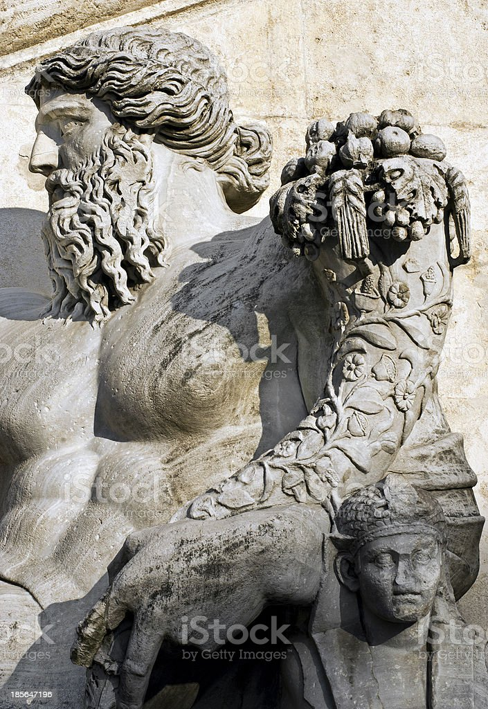 About Art - Capitoline Hill River God Nile Rome Italy royalty-free stock photo