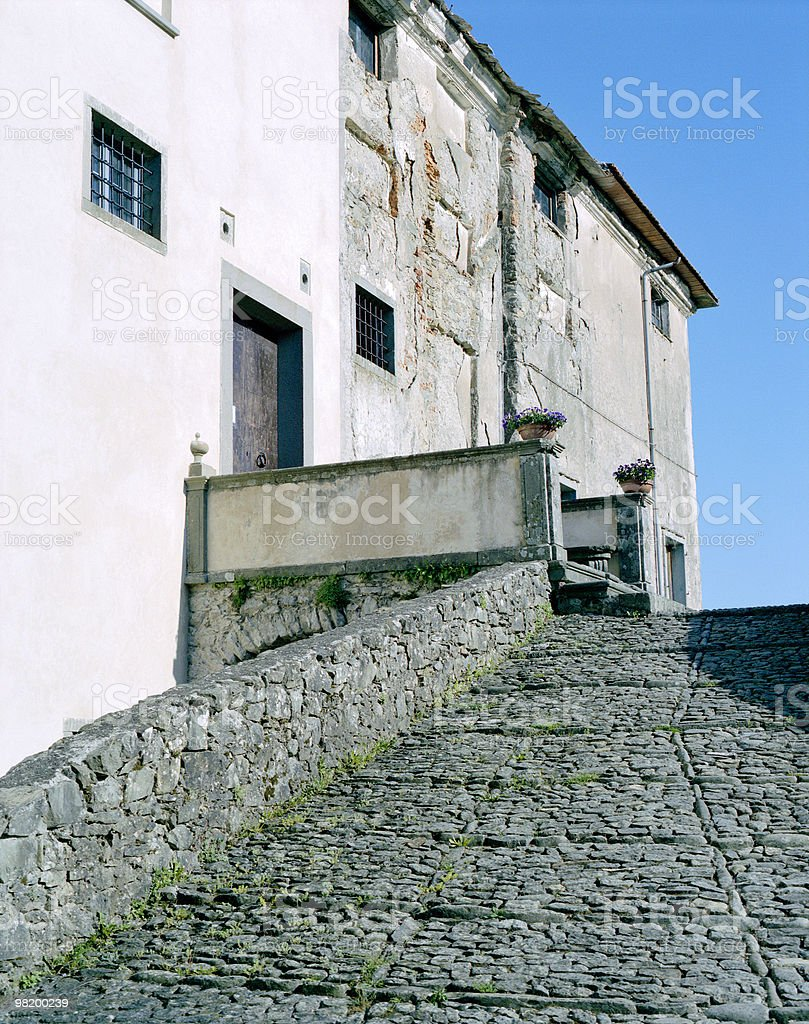About Beautiful Tuscany: Villa Brignole, Gavedo Village, Italy royalty-free stock photo