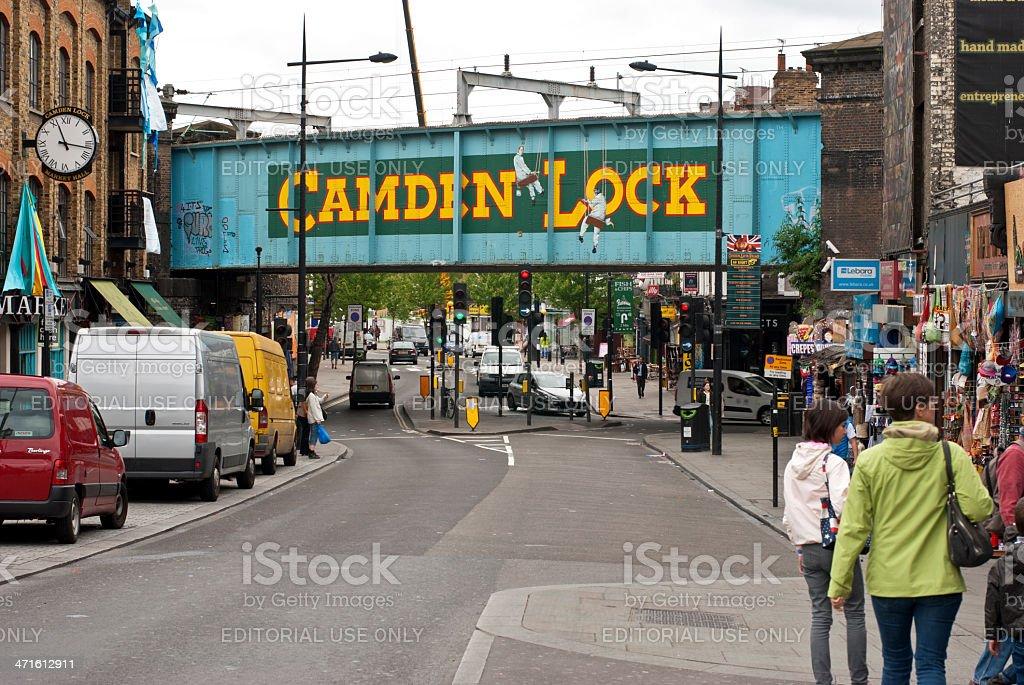 About London: Camden Lock Chalk Farm Railway Bridge, England (UK) royalty-free stock photo
