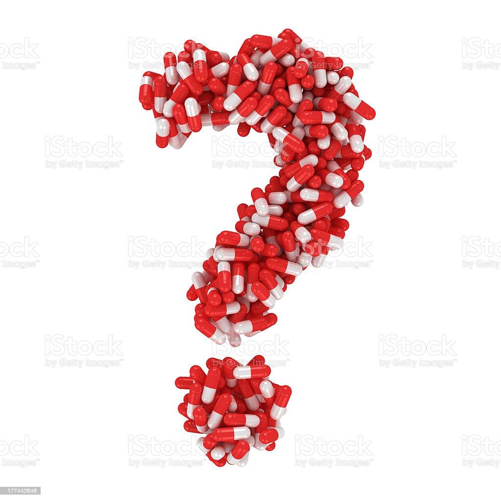 FAQ about medication royalty-free stock photo