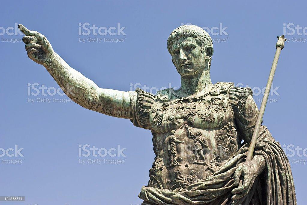 About Rome - Augustus Caesar / Bronze / Emperor / Italy stock photo