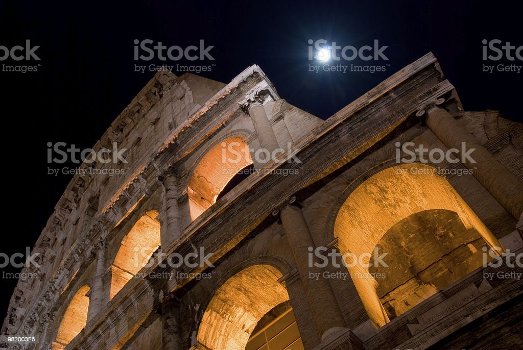 About Rome / Beautiful Coliseum Amphiteater, Roman Colosseum, Flavian Amphitheatre, Italy royalty-free stock photo