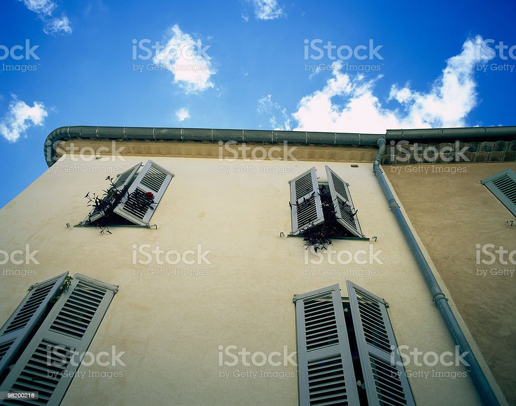 About St. Tropez / Clear Sky Windows, French Riviera, Provence, France royalty-free stock photo