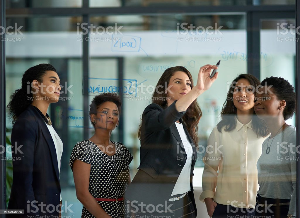 About the marketing division... stock photo