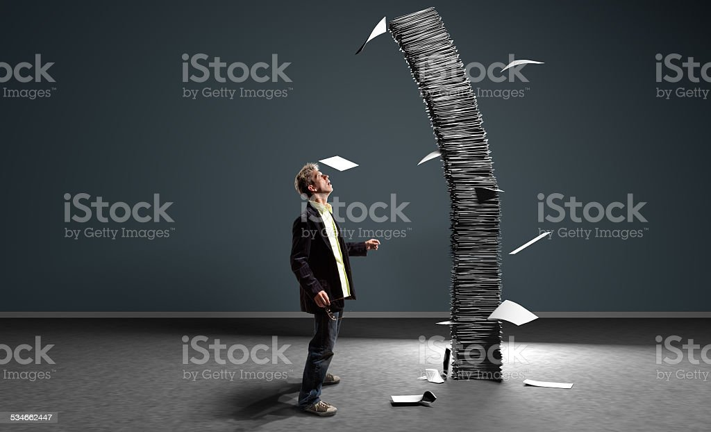 About to Fall stock photo
