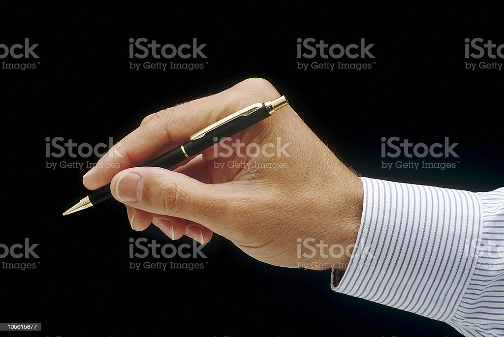 about to sign royalty-free stock photo