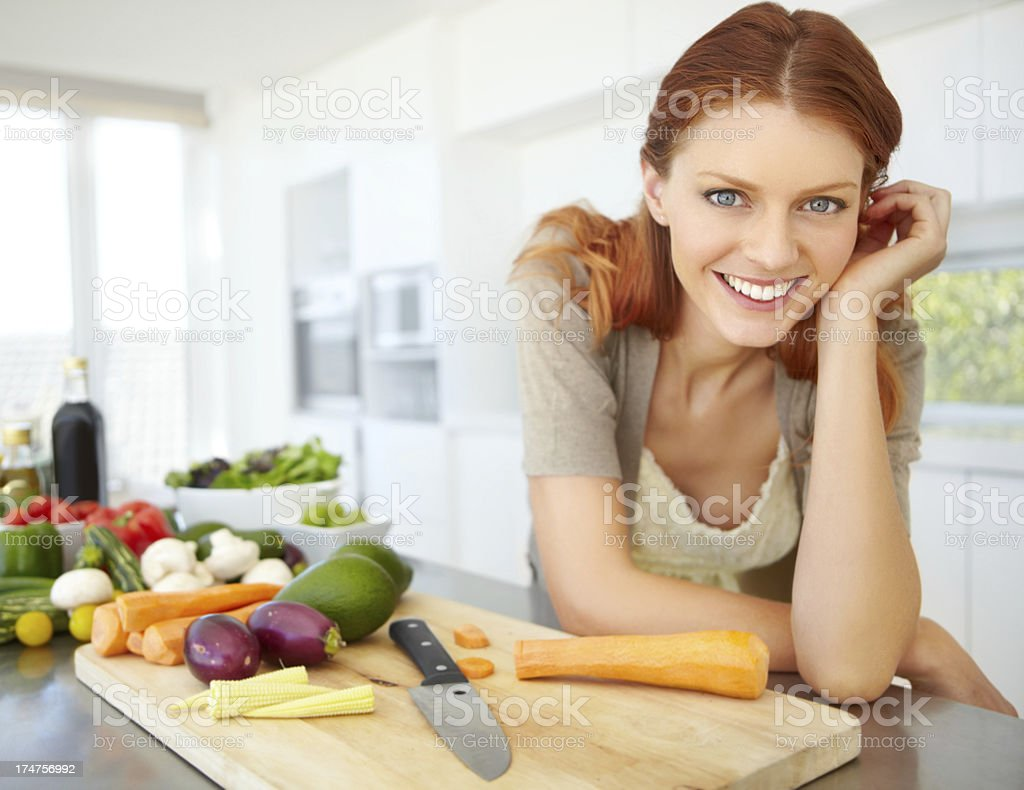 About to whip together an awesome salad royalty-free stock photo