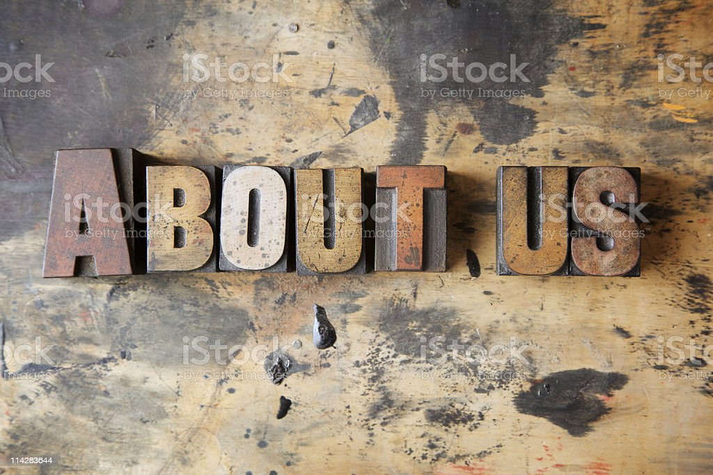 About Us... stock photo