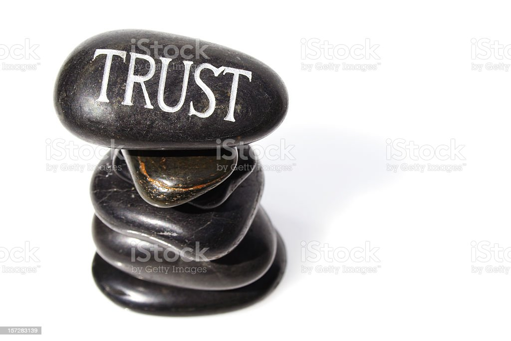 Above all else...Trust. royalty-free stock photo