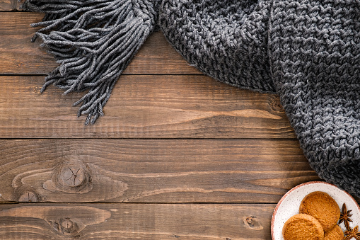 above, autumn, background, blanket, blog, blogger, brown, comfort, composition, cookies, copy space, cozy, craft, cup, desk, envelope, fall, flat lay, flatlay, frame, gift, holiday, home, knitted, lifestyle, mockup, mug, office, overhead, paper, present,