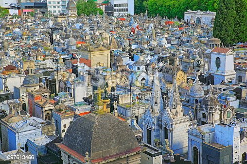 Above Buenos Aires Recoleta cemetery, capital of Argentina – South America\n\nLa Recoleta Cemetery (Spanish: Cementerio de la Recoleta) is a PUBLIC cemetery (belongs to the city of Buenos Aires),\n located in the Recoleta neighbourhood of Buenos Aires, Argentina. In 2011, the BBC hailed it as one of the world's best cemeteries, and in 2013, CNN listed it among the 10 most beautiful cemeteries in the world.