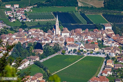 Caldaro sulla Strada del Vino – vineyards valley near Bolzano – Dolomites, Italy