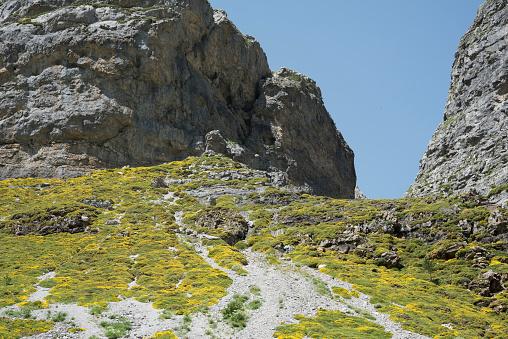 Above Cascada de Cola de Caballo, Pyrenees, Spain.