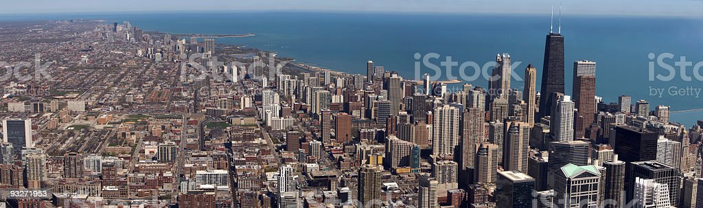 Above Chicago royalty-free stock photo