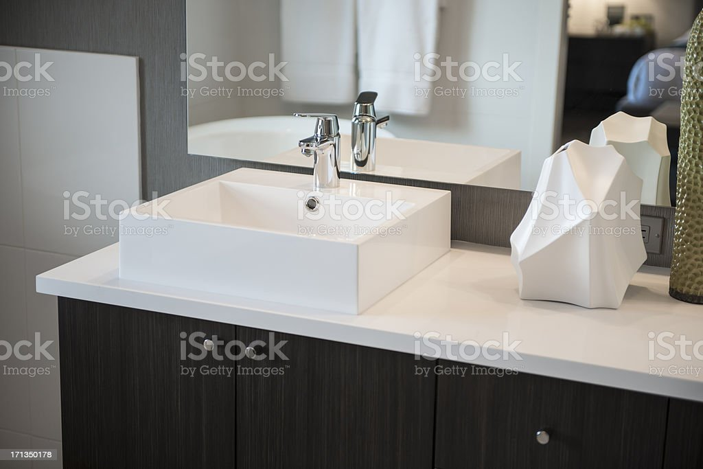 Above Counter Bathroom Sink stock photo