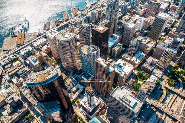 西雅圖市中心上方 - seattle 個照片及圖片檔