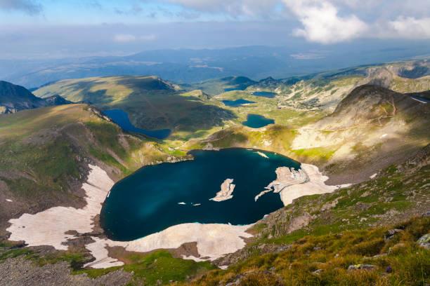 Above Eye Lake in Rila Mountains stock photo