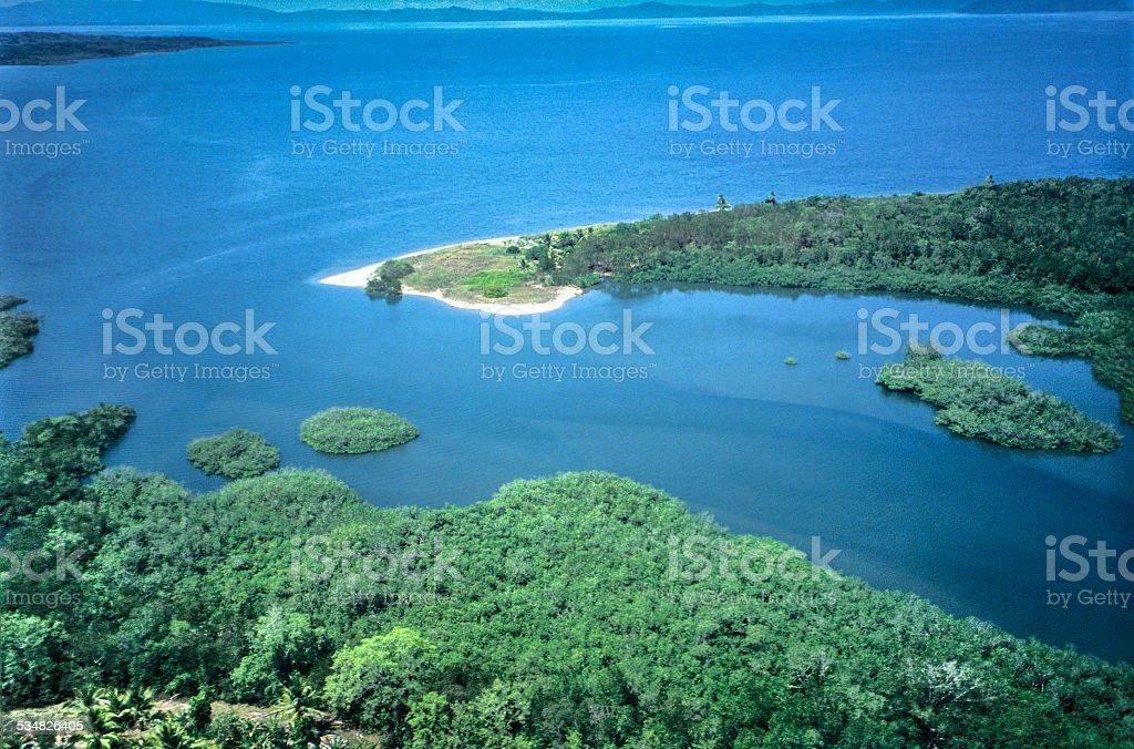 Above Golfo Dulce stock photo