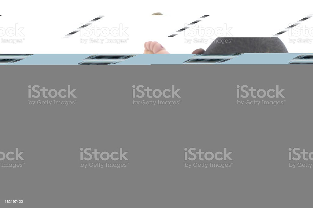 Above her head stock photo
