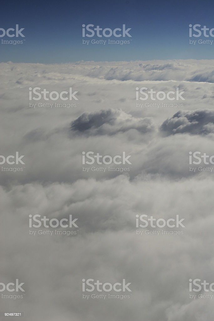 Above in the clouds royalty-free stock photo