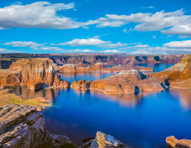 Above Lake Powell in Page, Arizona USA stock photo