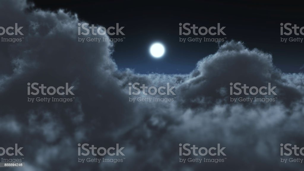 above Night clouds fly stock photo