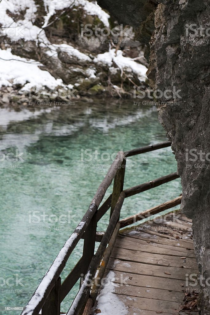 Above river royalty-free stock photo