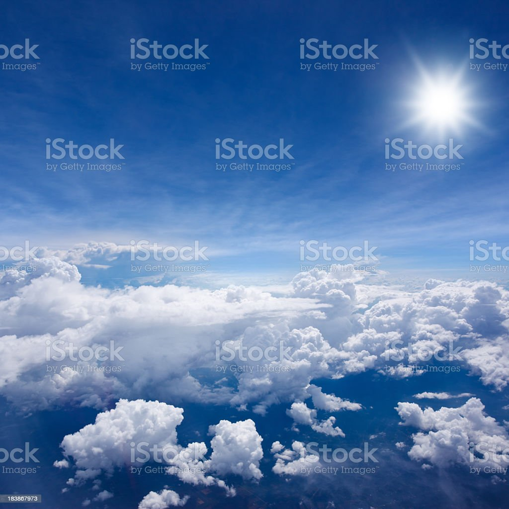 Above the Clouds 2 stock photo