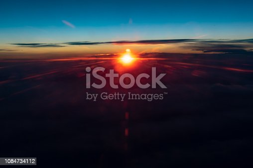 istock Above The Clouds At Sunrise 1084734112
