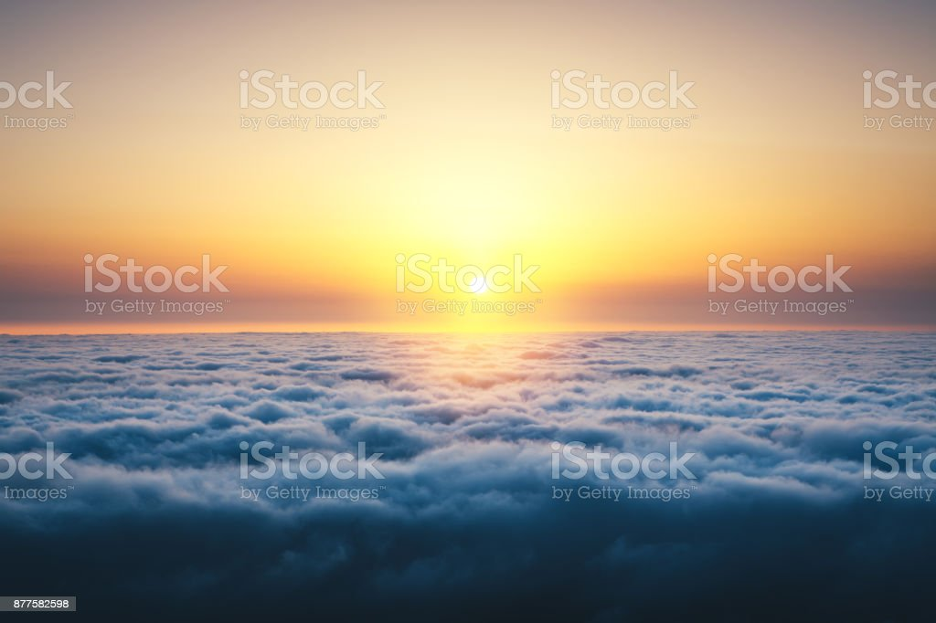 Above The Clouds At Sunrise stock photo