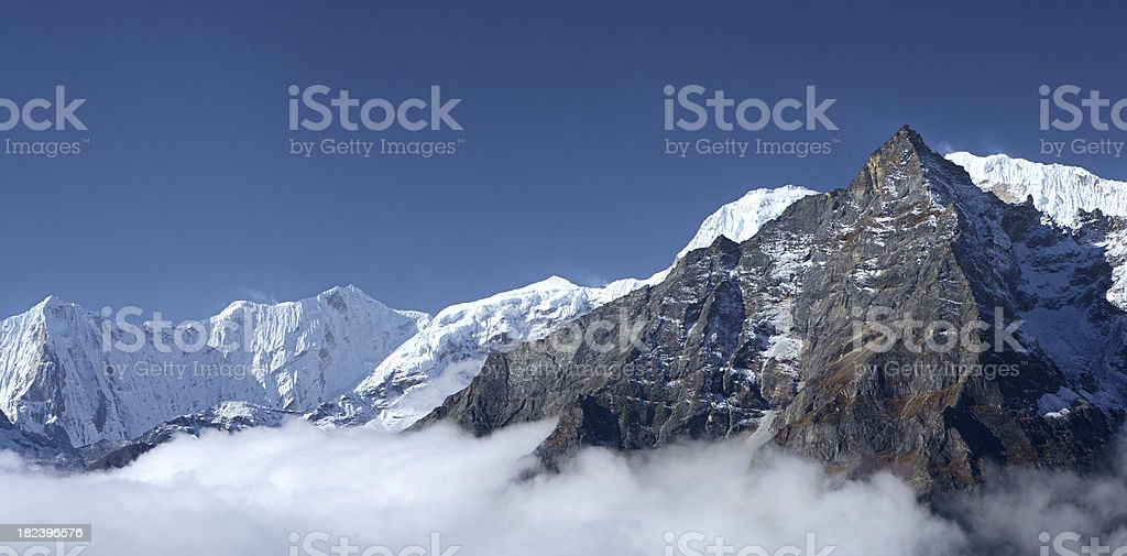 Above the clouds - Himalaya's panorama royalty-free stock photo