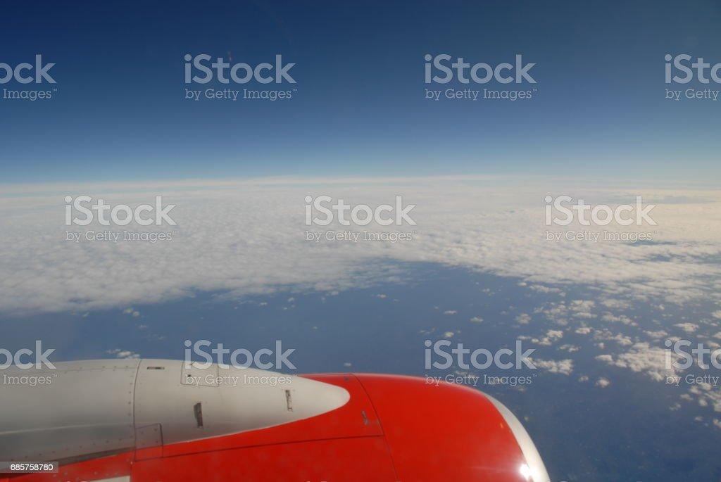 Über den Wolken in Europa royaltyfri bildbanksbilder