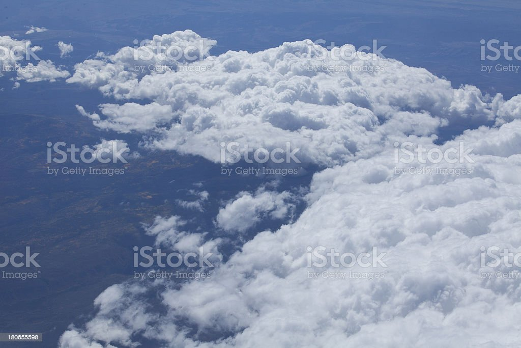 Above the clouds royalty-free stock photo
