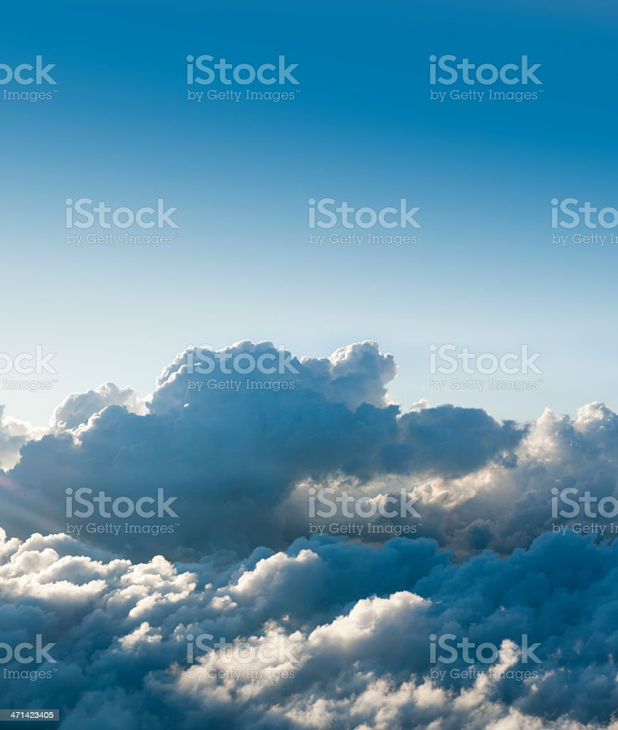 Above the clouds  (image size XXXL) stock photo