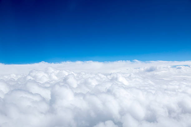 Sopra le nuvole - foto stock