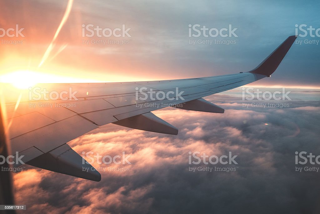 Above the clouds. stock photo