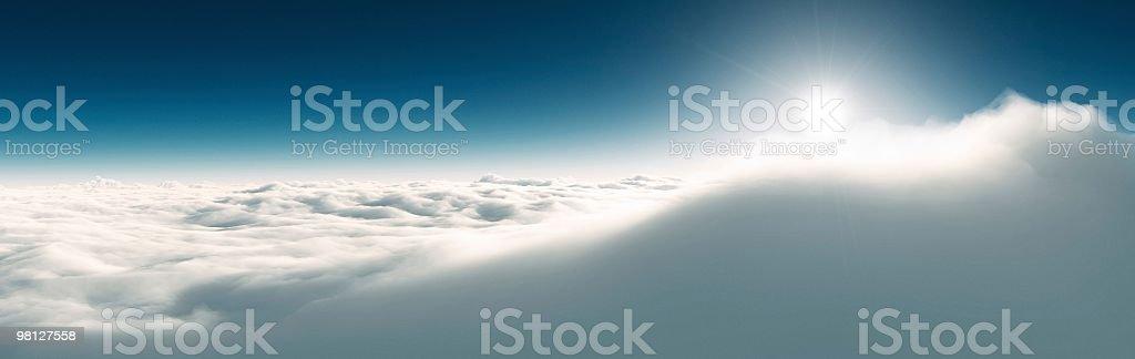 Sopra le nuvole foto stock royalty-free