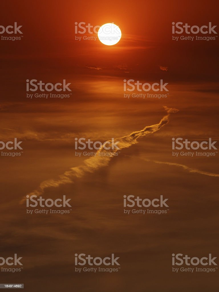 Above the clouds -  vertical royalty-free stock photo