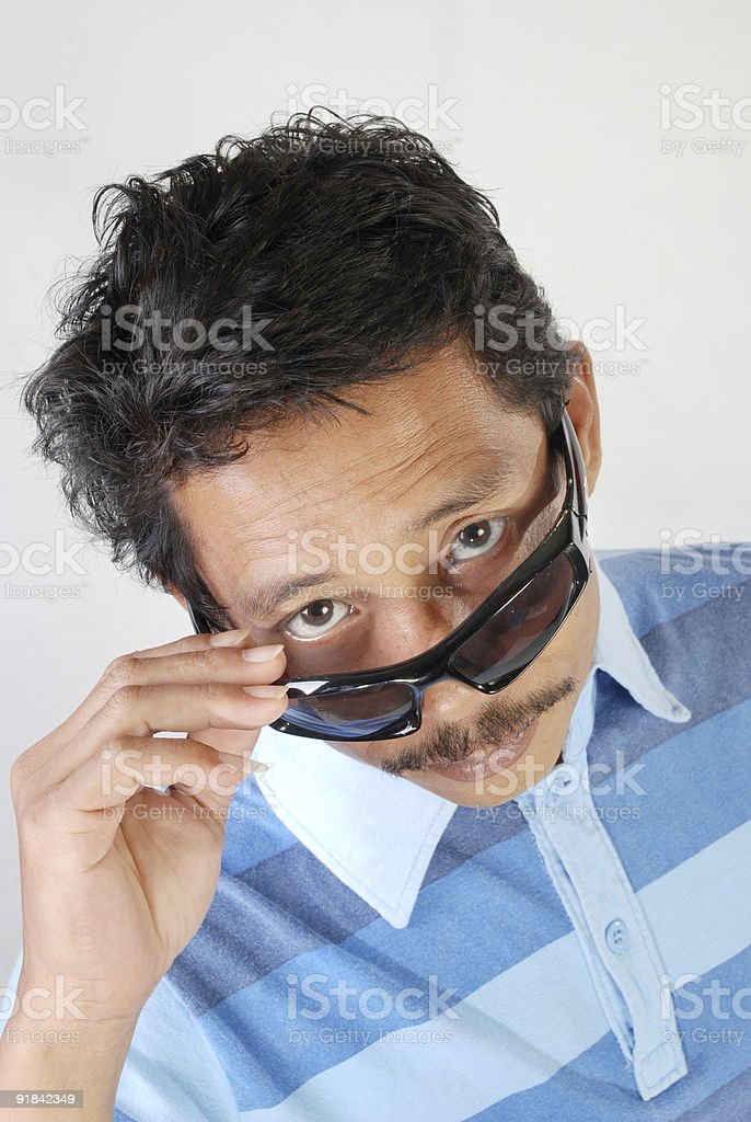 above the glasses royalty-free stock photo