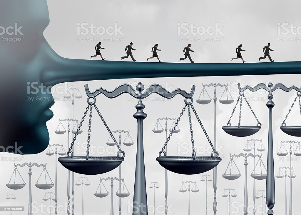 Above The Law stock photo