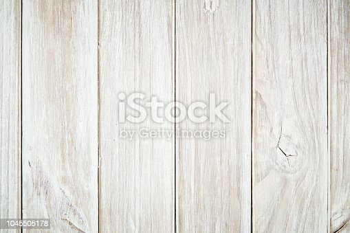 istock Above the old white oak wood floor with blank space 1045505178