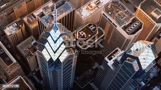 istock Above the One and Two Liberty Place in Philadelphia, PA 952310196