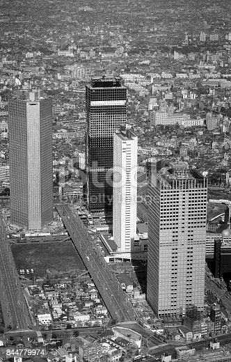 Above the Shinjuku subcenter