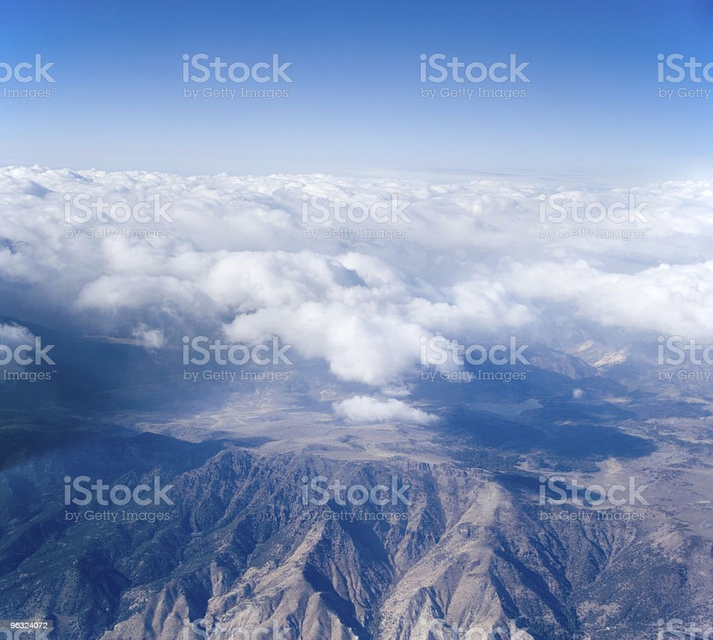 Above the Sierra Nevada Mountains
