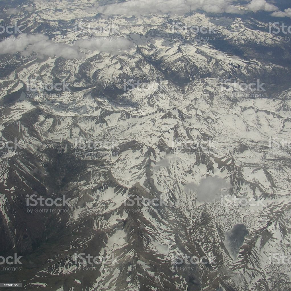 Above the snowy range royalty-free stock photo